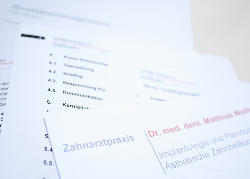 Zahnarztpraxis Dr. med. dent. Matthias Wolfgarten, Qualitätsmanagement